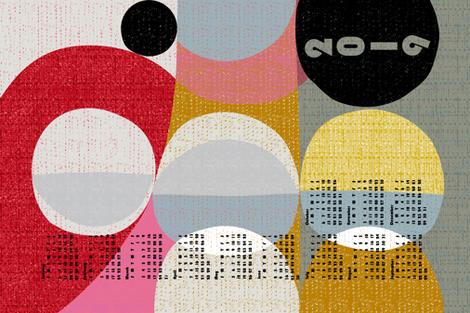 2019 many moons tea towel calendar fabric by ottomanbrim on Spoonflower - custom fabric