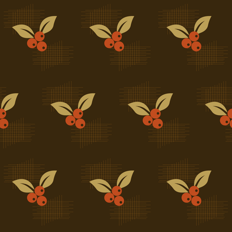 Autumn Berries fabric by kittylouvintage on Spoonflower - custom fabric
