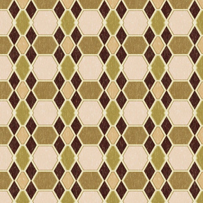 Woodcut Bronze Geometric