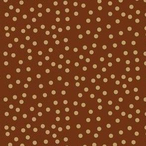 Twinkling Caramel Fudge Dots on  Chocolate Fudge - Large Scale
