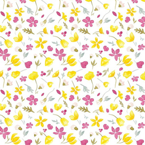 Tundraberry Arctic Florals Pattern White-01