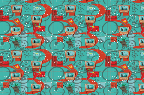 retrobarchallengeA fabric by teal_feather on Spoonflower - custom fabric