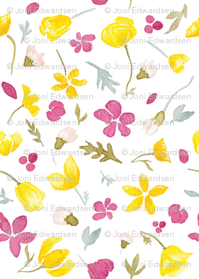 Tundraberry Arctic Florals Pattern Petite White-01