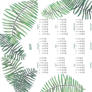 2019 tea towel calendar palms