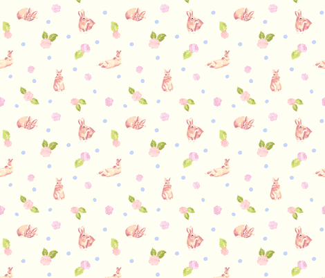 Sweet bunny fabric by lapinecurieuse on Spoonflower - custom fabric