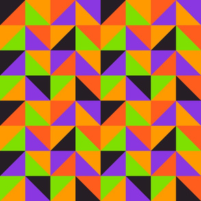 Halloween colors triangles pattern