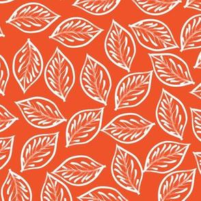 Red Leaves Brush Strokes (medium scale)