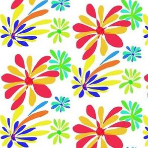 A Splash of Retro Flowers