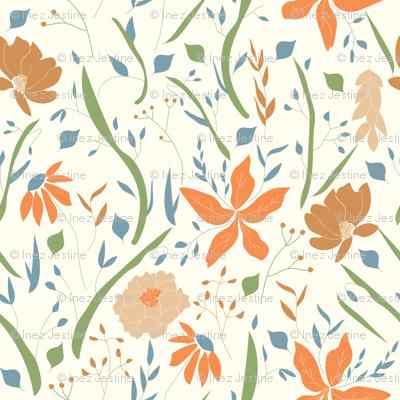Retro Umber Floral
