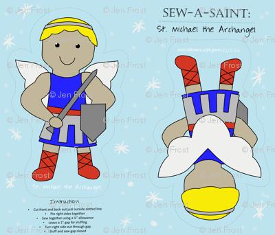 Sew a Saint: Saint Michael the Archangel