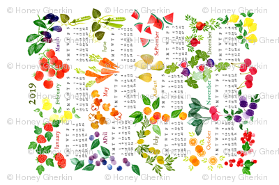Teatowel 2019 Fruits and Veggies