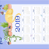 2019 Tea Towel Calendar Home Is Where The Cat Is
