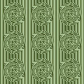 Spring Greens Swirl Stripe