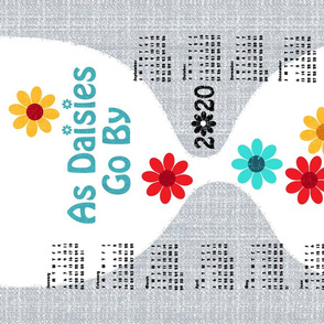 2020 As Daisies Go By tea towel calendar