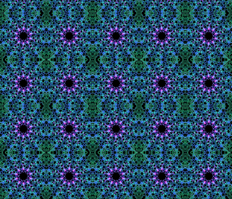 All Curled Up - Blue/Green/Purple fabric by savagepoodles on Spoonflower - custom fabric
