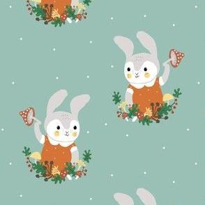 bunny and mushroom 2