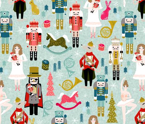 EXTRA LARGE - nutcracker ballet // nutcrackers xmas holiday christmas christmas xmas holiday fabric by andrea lauren fabric by andrea_lauren on Spoonflower - custom fabric