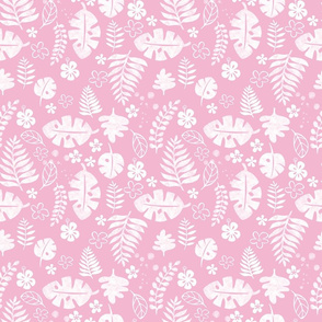 pink aloha foliage - medium