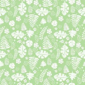 green aloha foliage - medium