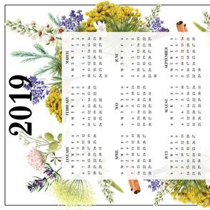 Teatowel calendar 2019