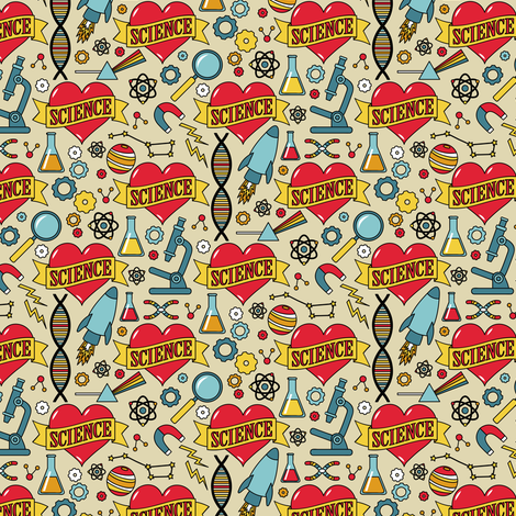 Scientific Tattoo (Extra Small) fabric by robyriker on Spoonflower - custom fabric