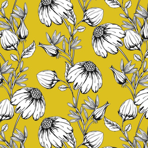 Bloom Floral- yellow (large)