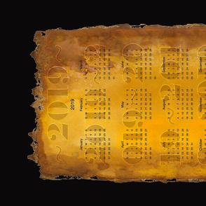 Gold Deckle 2019 tea towel