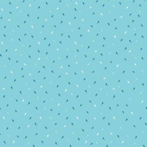 Blue and Navy Blue Ditsy Party Confetti Drops