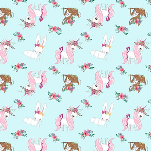 unicorn deer bunny