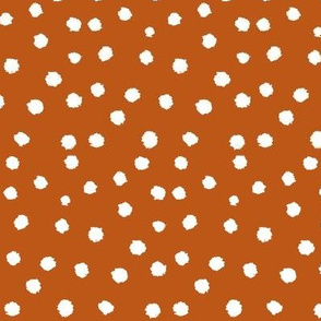 Painted Polka Dot // Longhorn Burnt Orange