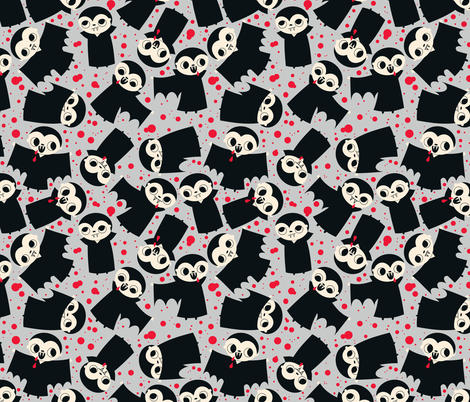 vampire fabric grey fabric by heidikenney on Spoonflower - custom fabric