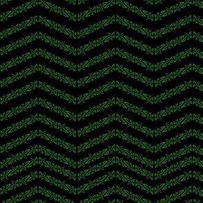 Enlightened Herringbone Pattern on Black
