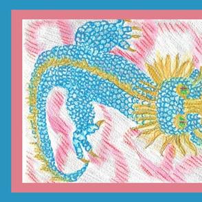 red cloud dragon tea towel
