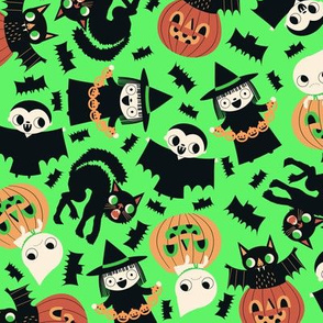 Halloween Friends Green