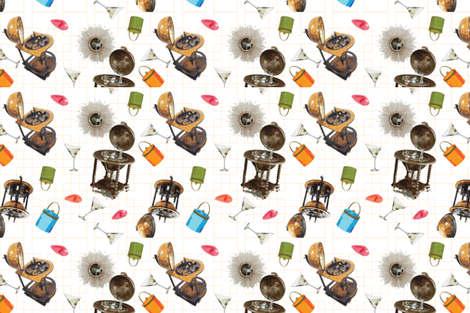 I'd give you the world fabric by xxgingerxx on Spoonflower - custom fabric