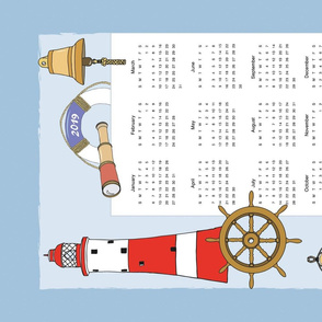 Calendar 2019 TeaTowel Maritime
