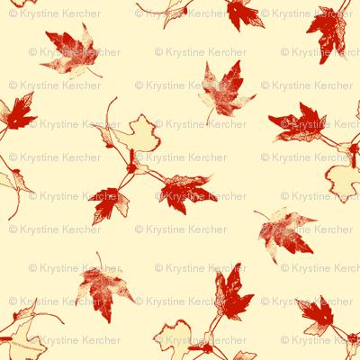 Red Cream Maple Leaves