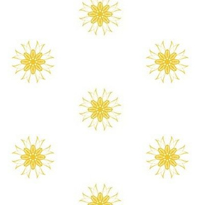 Golden Starshine on White
