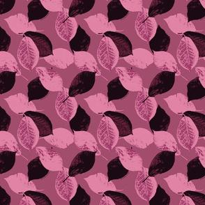 Wild Purple Plum Leaves