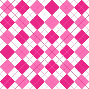 Peppermint Pink Alternating Argyle