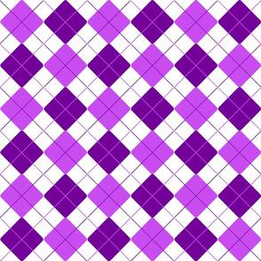 Purple Lilac Alternating Argyle