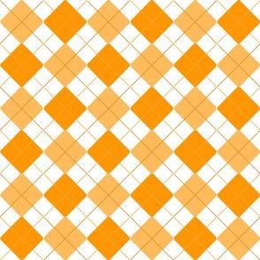 Orange Alternating Argyle