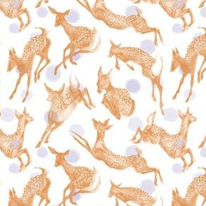 Pretty Little Fawns & blue dots