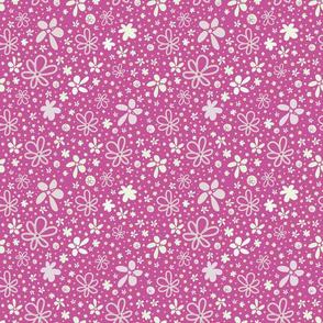 Deep Pink Flower Shower