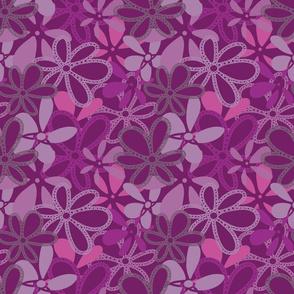 Elegant Deep Purple Floral Texture