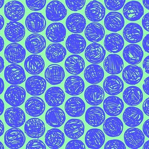 Polkadots (navy and blue)