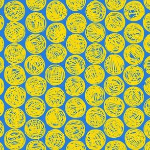 Polkadots (blue and yellow)