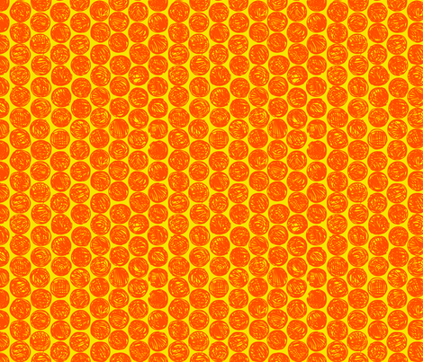 Polkadots (orange and yellow) fabric by co_mix on Spoonflower - custom fabric