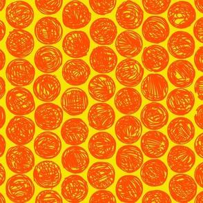 Polkadots (orange and yellow)