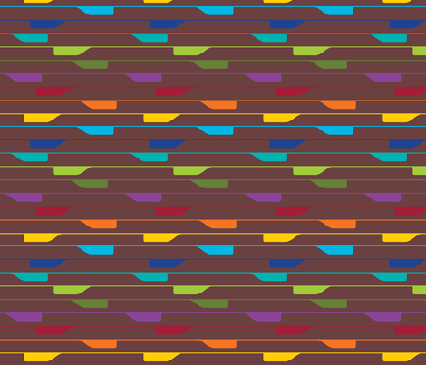 Tabs on chocolate fabric by co_mix on Spoonflower - custom fabric